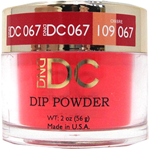 DND - DC Dip Powder - Fire Engine Red 2 oz - #067-Beyond Polish