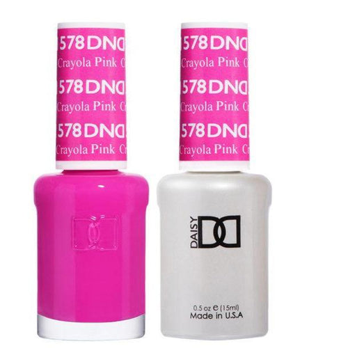 DND - Gel & Lacquer - Crayola Pink - #578-Beyond Polish