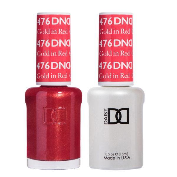 DND - Gel & Lacquer - Gold in Red - #476-Beyond Polish