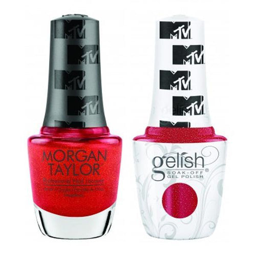Gelish & Morgan Taylor Combo - Total Request Red-Beyond Polish