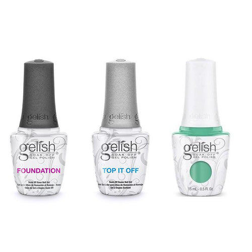Harmony Gelish Combo - Base, Top & A Mint Of Spring-Beyond Polish