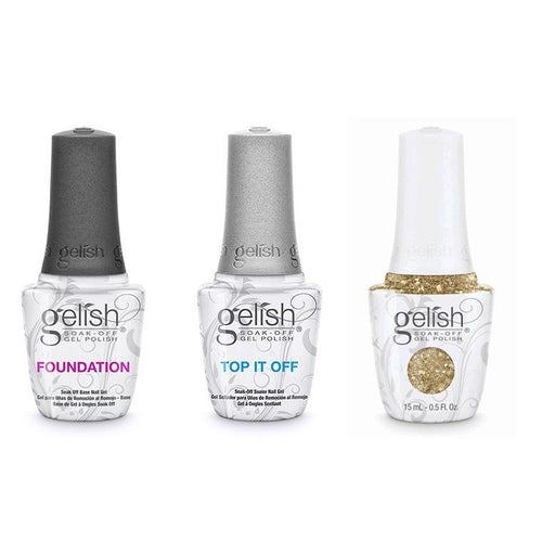 Harmony Gelish Combo - Base, Top & All That Glitters Is Gold-Beyond Polish