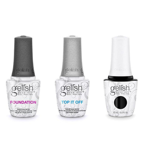 Harmony Gelish Combo - Base, Top & Black Shadow-Beyond Polish