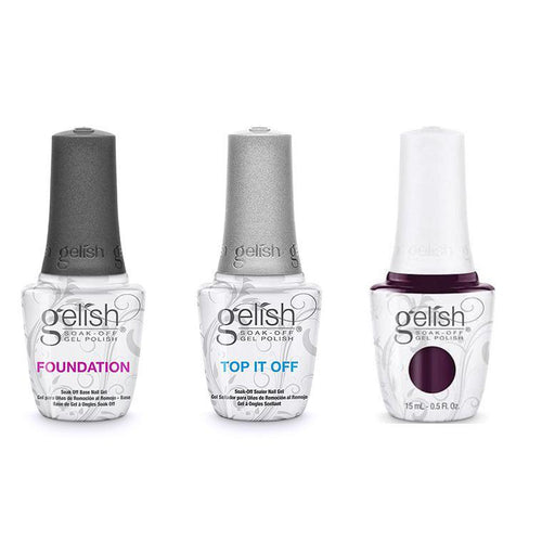 Harmony Gelish Combo - Base, Top & Love Me Like A Vamp-Beyond Polish