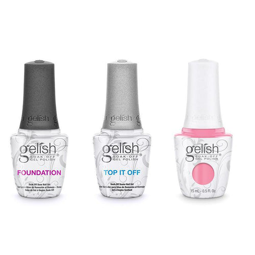 Harmony Gelish Combo - Base, Top & Make You Blink Pink-Beyond Polish
