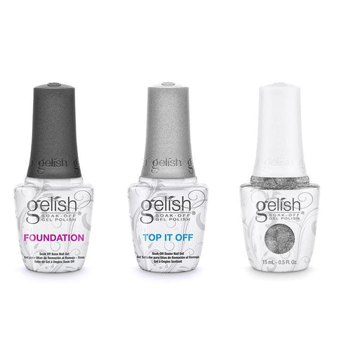 Harmony Gelish Combo - Base, Top & Tinsel Me Fancy-Beyond Polish