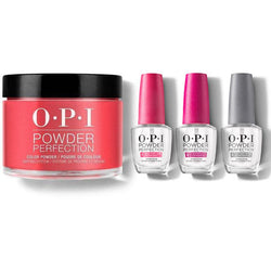 OPI - Dip Powder Combo - Liquid Set & Red Hot Rio-Beyond Polish