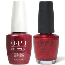 OPI - Gel & Lacquer Combo - A Little Guilt Under The Kilt-Beyond Polish