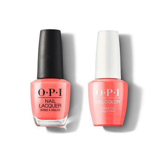 OPI - Gel & Lacquer Combo - Orange You a Rock Star?-Beyond Polish
