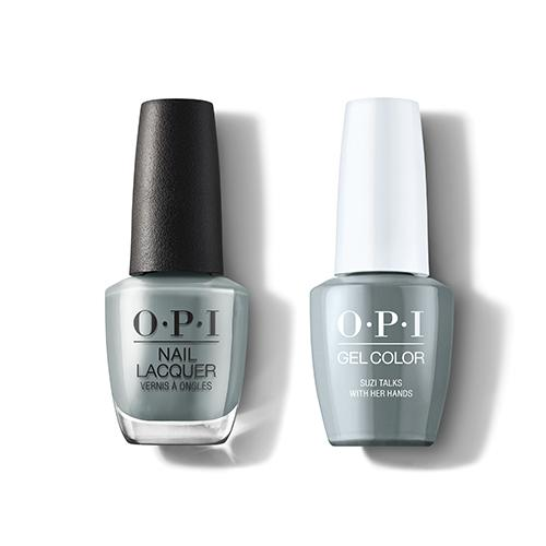 OPI - Gel & Lacquer Combo - Suzi Talks With Her Hands-Beyond Polish