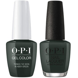 OPI - Gel & Lacquer Combo - Things I've Seen In Aber-green-Beyond Polish