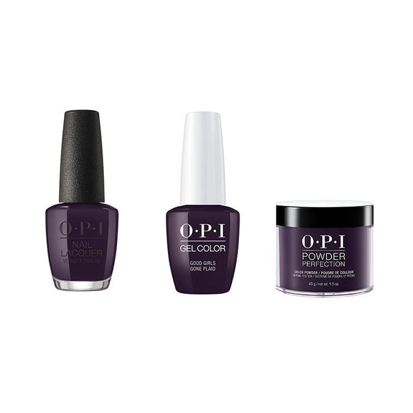 OPI - Gel, Lacquer & Dip Combo - Good Girls Gone Plaid-Beyond Polish