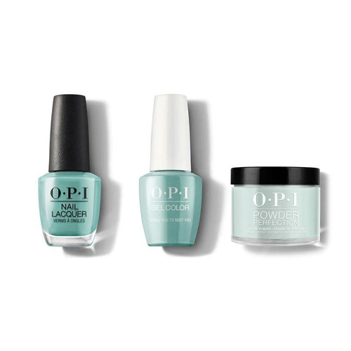 OPI - Gel, Lacquer & Dip Combo - Verde Nice To Meet You-Beyond Polish