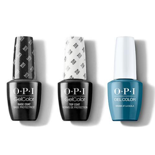 OPI - GelColor Combo - Base, Top & Drama At La Scala-Beyond Polish