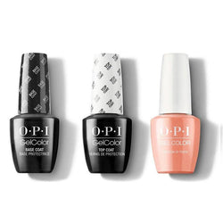OPI - GelColor Combo - Base, Top & Freedom of Peach-Beyond Polish