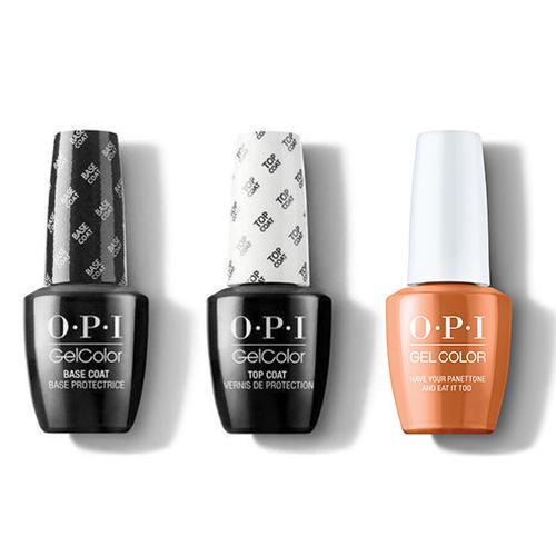 OPI - GelColor Combo - Base, Top & Have Your Panettone And Eat it Too-Beyond Polish