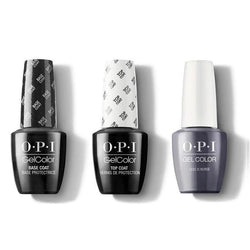 OPI - GelColor Combo - Base, Top & Less is Norse-Beyond Polish