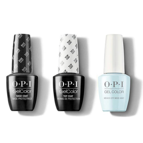OPI - GelColor Combo - Base, Top & Mexico City Move-mint-Beyond Polish