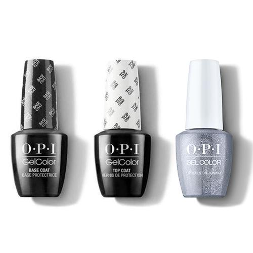 OPI - GelColor Combo - Base, Top & OPI Nails The Runway-Beyond Polish