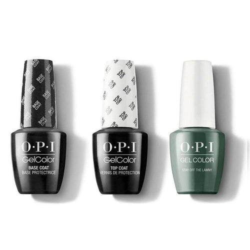 OPI - GelColor Combo - Base, Top & Stay Off the Lawn!!-Beyond Polish