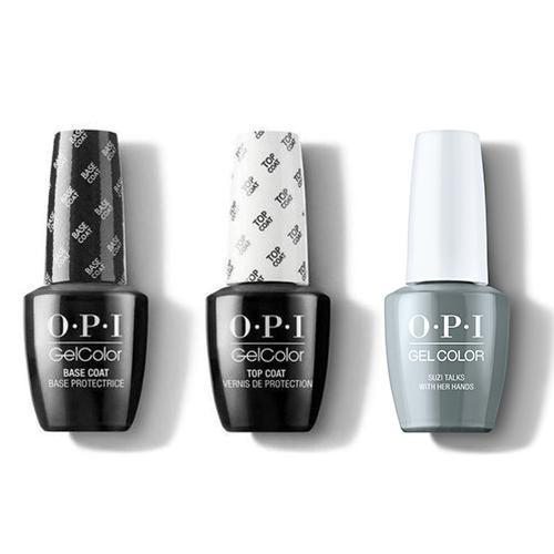 OPI - GelColor Combo - Base, Top & Suzi Talks With Her Hands-Beyond Polish