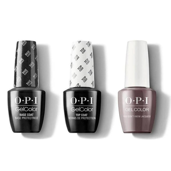 OPI - GelColor Combo - Base, Top & You Dont Know Jacques-Beyond Polish
