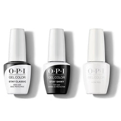 OPI - GelColor Combo - Stay Classic Base, Shiny Top & Alpine Snow-Beyond Polish