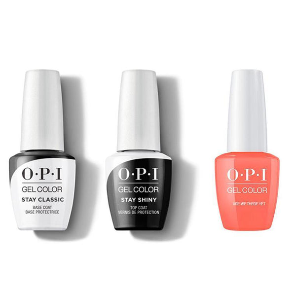 OPI - GelColor Combo - Stay Classic Base, Shiny Top & Are We There Yet?-Beyond Polish