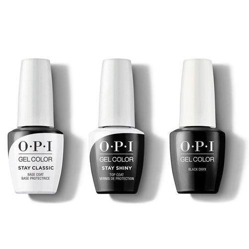 OPI - GelColor Combo - Stay Classic Base, Shiny Top & Black Onyx-Beyond Polish