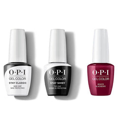 OPI - GelColor Combo - Stay Classic Base, Shiny Top & Bogota Blackberry-Beyond Polish