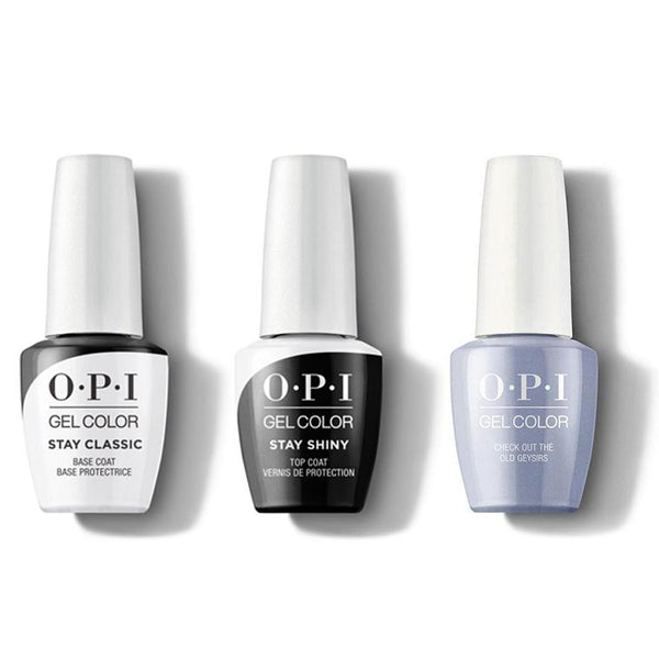 OPI - GelColor Combo - Stay Classic Base, Shiny Top & Check Out the Old Geysirs-Beyond Polish
