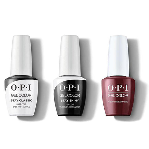 OPI - GelColor Combo - Stay Classic Base, Shiny Top & Complimentary Wine-Beyond Polish