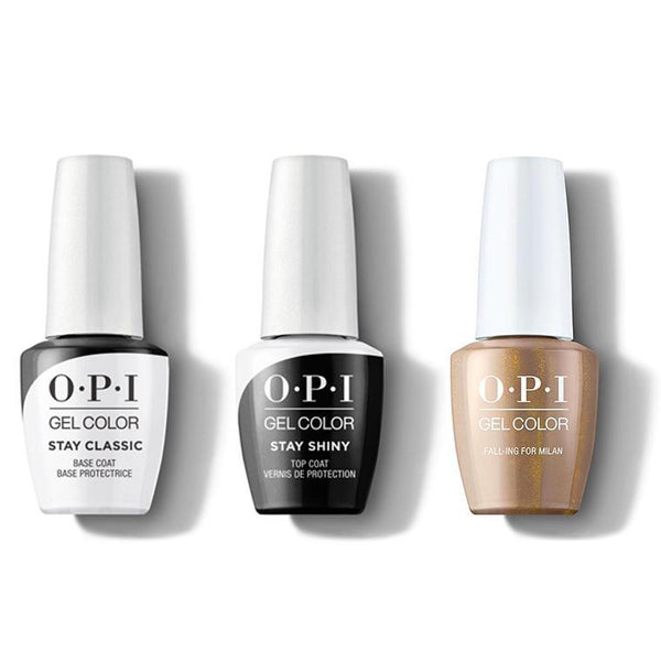 OPI - GelColor Combo - Stay Classic Base, Shiny Top & Fall-ing For Milan-Beyond Polish