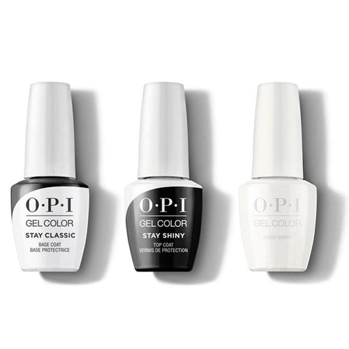 OPI - GelColor Combo - Stay Classic Base, Shiny Top & Funny Bunny-Beyond Polish
