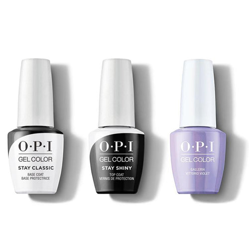 OPI - GelColor Combo - Stay Classic Base, Shiny Top & Galleria Vittorio Violet-Beyond Polish