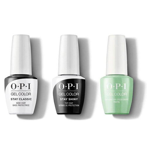 OPI - GelColor Combo - Stay Classic Base, Shiny Top & Gargantuan Green Grape (Pastel)-Beyond Polish