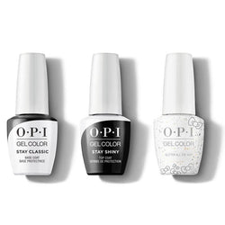 OPI - GelColor Combo - Stay Classic Base, Shiny Top & Glitter All The Way-Beyond Polish