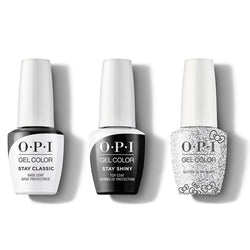 OPI - GelColor Combo - Stay Classic Base, Shiny Top & Glitter To My Heart-Beyond Polish
