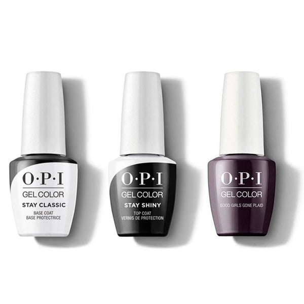 OPI - GelColor Combo - Stay Classic Base, Shiny Top & Good Girls Gone Plaid-Beyond Polish