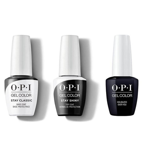 OPI - GelColor Combo - Stay Classic Base, Shiny Top & Holidazed Over You-Beyond Polish