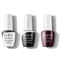 OPI - GelColor Combo - Stay Classic Base, Shiny Top & In the Cable Car-pool Lane-Beyond Polish