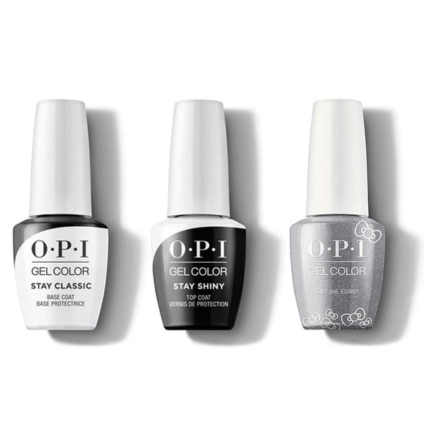OPI - GelColor Combo - Stay Classic Base, Shiny Top & Isn't She Iconic!-Beyond Polish