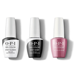 OPI - GelColor Combo - Stay Classic Base, Shiny Top & Just Lanai-ing Around-Beyond Polish