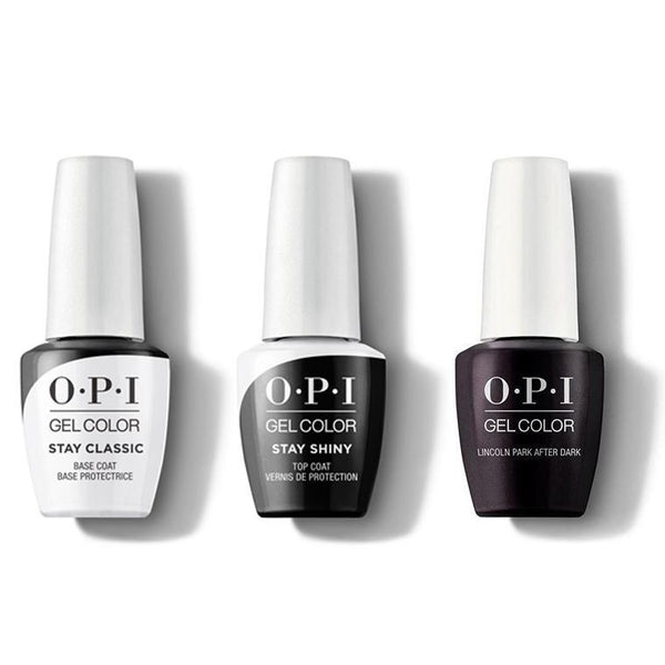 OPI - GelColor Combo - Stay Classic Base, Shiny Top & Lincoln Park After Dark-Beyond Polish