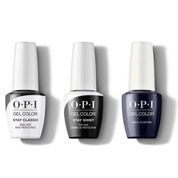 OPI - GelColor Combo - Stay Classic Base, Shiny Top & March In Uniform-Beyond Polish