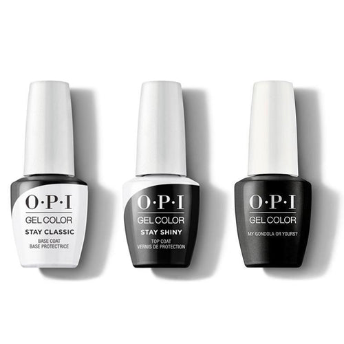 OPI - GelColor Combo - Stay Classic Base, Shiny Top & My Gondola or Yours-Beyond Polish