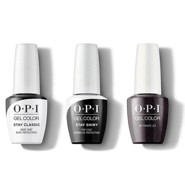 OPI - GelColor Combo - Stay Classic Base, Shiny Top & My Private Jet-Beyond Polish