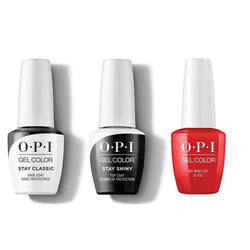 OPI - GelColor Combo - Stay Classic Base, Shiny Top & My Wish List is You-Beyond Polish