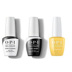 OPI - GelColor Combo - Stay Classic Base, Shiny Top & Need Sunglasses-Beyond Polish