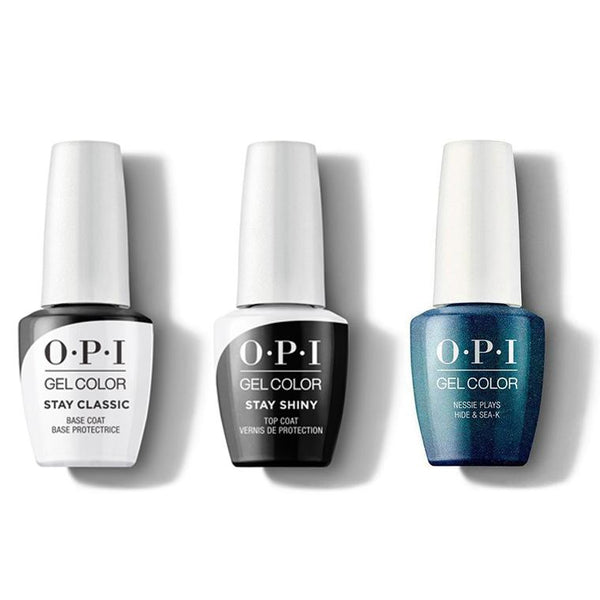 OPI - GelColor Combo - Stay Classic Base, Shiny Top & Nessie Plays Hide & Sea-k-Beyond Polish